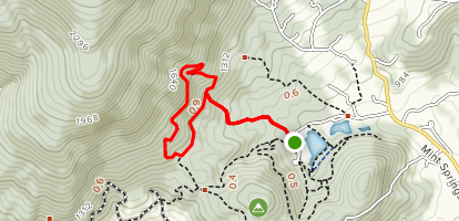 Big Survey and Fire Trail Loop Map