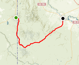 Owyhee Uplands Backcountry Byway Map