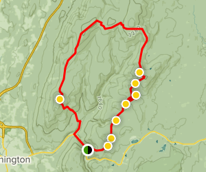 Long Trail and Bald Mountain Loop Map