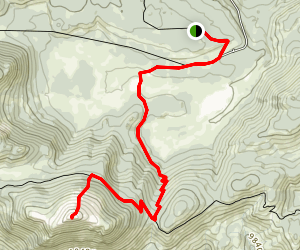 Trail Pass to Trail Peak via Pacific Crest Trail Map