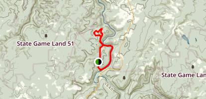 Knetucky Trail to Youghiogheny River Trail Loop Map