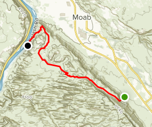 Hidden Valley to Moab Rim Trail Map