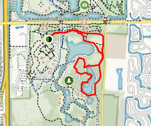 Okeeheelee Park South Loop Map
