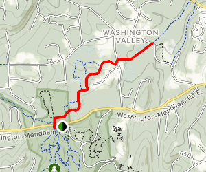 Patriots Path: Route 24 to Washington Valley Rd Map