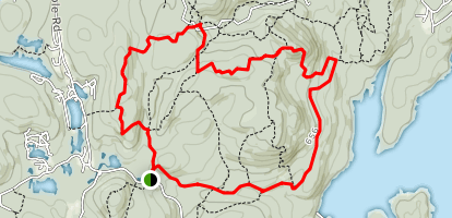 Carris Hill and Wyanokie Crest Trail Loop  Map