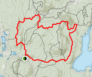 Norvin Green Sate Forest Loop Map