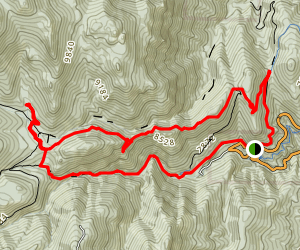 Kineo Mountain and Loud's Cabin Loop Map