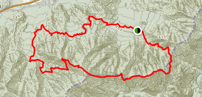 Low Gap Trail to Appalachian Trail to Gabes Mountain Trail Loop Map