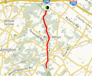 Pennypack Trail Map