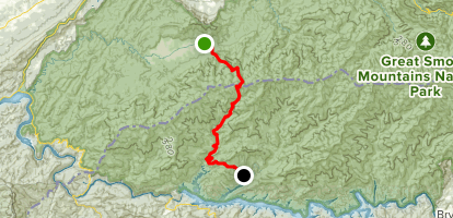 Anthony Creek, Bote Mountain, Eagle Creek, and Lakeshore to Hazel Creek Map