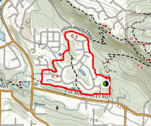 Newcastle Highlands Trail Map