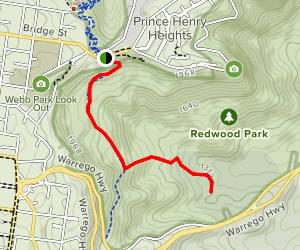 Redwood Brindle Trail to Eagle Nest Trail Map