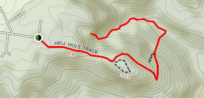 Hell Hole Falls Map