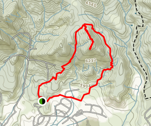 Colorow Trail West and East Loop Map