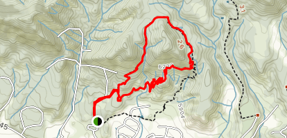 Colorow West Trail to Stairway to Heaven Map