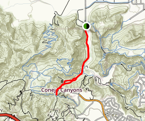 Hill Canyon Trail to Hawk Canyon Map