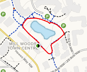 Millwoods Pond Loop Map