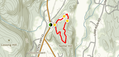 Nellie Hill Preserve Red Trail Loop Map