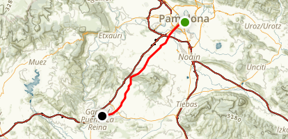 Camino Day 4: Pamplona to Puente La Reina Map