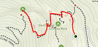 Exclamation Point and Devil's Head Map