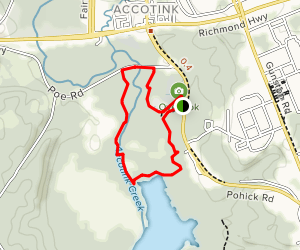 Pohick Loop Trail to Accotink Creek Trail Map