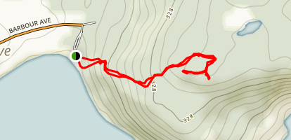 Sandy Cove Lookout Map