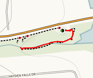 Hayden Run Falls Map