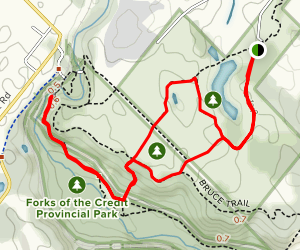 Cataract Falls via Trans Canada Trail and Kettle Trail Loop  Map