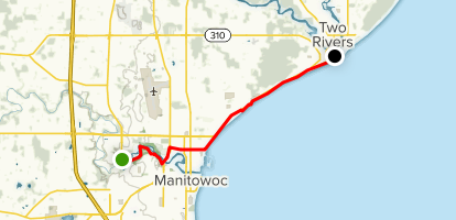Manitowoc to Two Rivers via Mariners Trail - Wisconsin