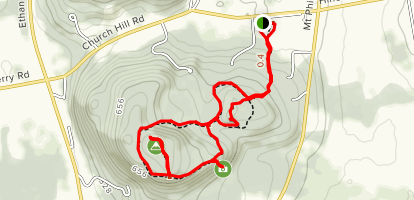 Pease Mountain Loop Map