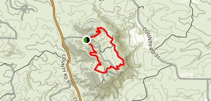 Stearns Trail at Cedar Mountain Map