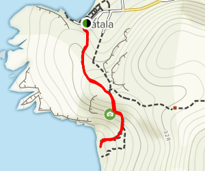 Red Beach Trail Map