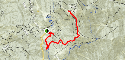 Cabin Traverse Trail via Deer Point Trail Map