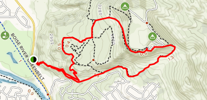 Table Rock Trail and Quarry Loop Map