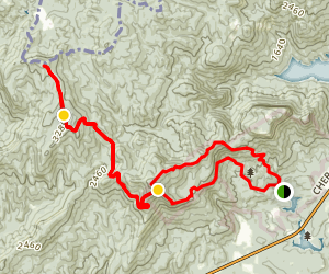 Table Rock to Sassafras Viewpoint Loop Map