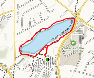 Kent's Pond Trail Map
