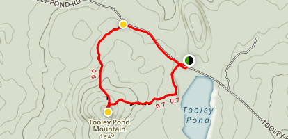 Tooley Pond Mountain Trail Loop Map