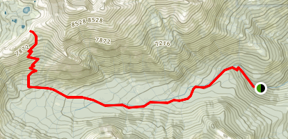 Upper Sisson-Callahan Trail: North Fork Sacramento to Deadfall Crest Map