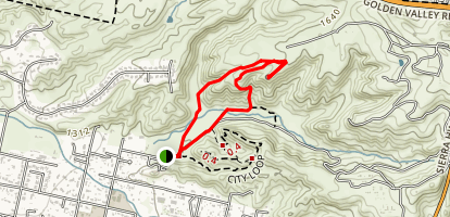 Coyote and Fox Trail Loop Map