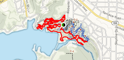 Lone Wolf and The Dam Drop Trail Loop Map