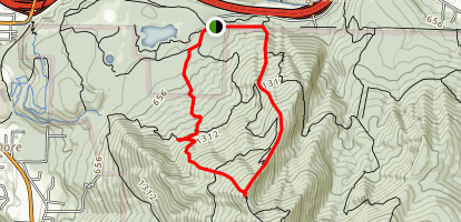 West Tiger #3 via Cable Line and Nook Trail Loop Map