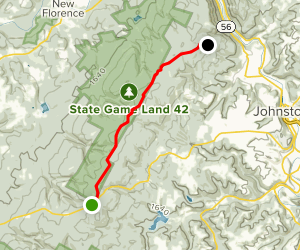 Laurel Highlands Hiking Trail: Route 271 to Decker Avenue Map