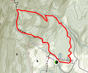 Bellows Pipe and Thunderbolt Ski Trail Loop Map