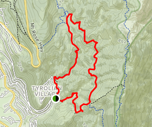 Folsom Camp Loop: Tyrolean Downhill to Incline Flume Map