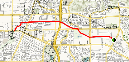 The Tracks at Brea Map