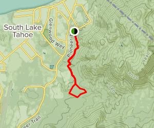 Powerline Trail to Cold Creek Trail Loop Map