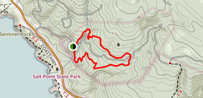 Kruse Rhododendron State Reserve Loop Trail Map