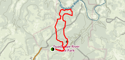 Painted Bunting to River Overlook Loop Map