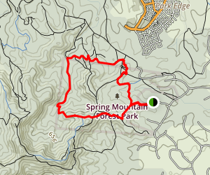 Spring Mountain Foothills Map