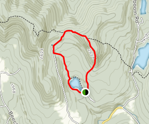 Little Pond and Touchmenot Mountain Loop Map